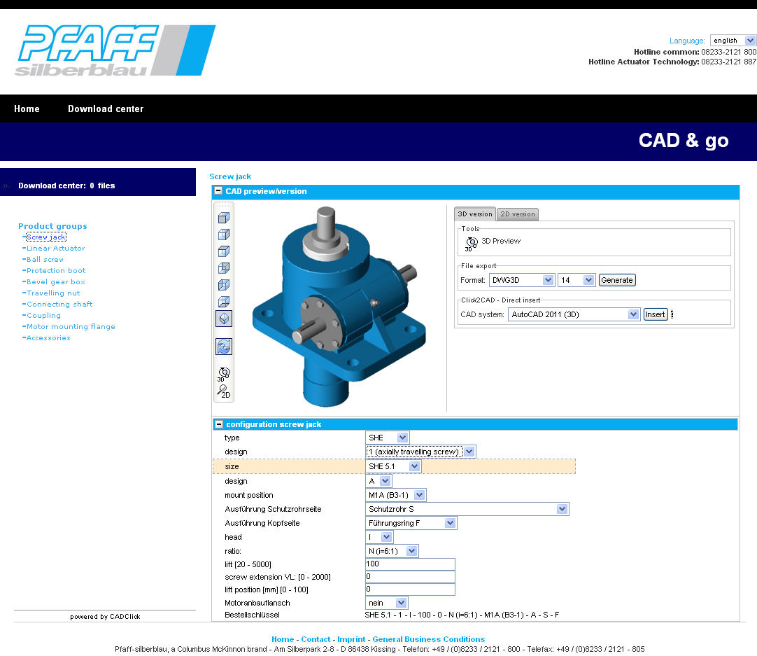 Update For Pfaff Silberblau Cad Go Quick And Easy Online Access To Product Data Drive Technology